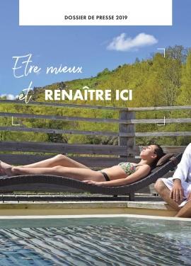 Page de couverture du dossier de presse Mieux-être thermal 2019