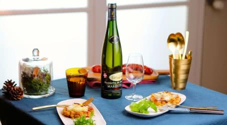 Galettes de Crozets à la Tome des Bauges et Vin de Savoie