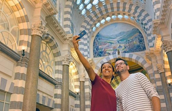 Photo d'un selfie au Mont-Dore
