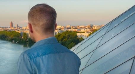 Photo d'une vue depuis le musée des Confluences à Lyon