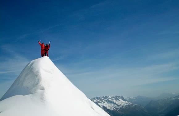 Alpinistes à La Jonction - massif du Mont Blanc (74)