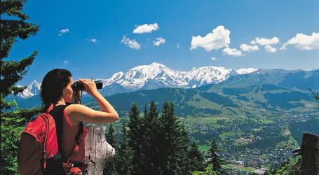 Pause randonnée au-dessus de Megève - Mont Blanc (74)