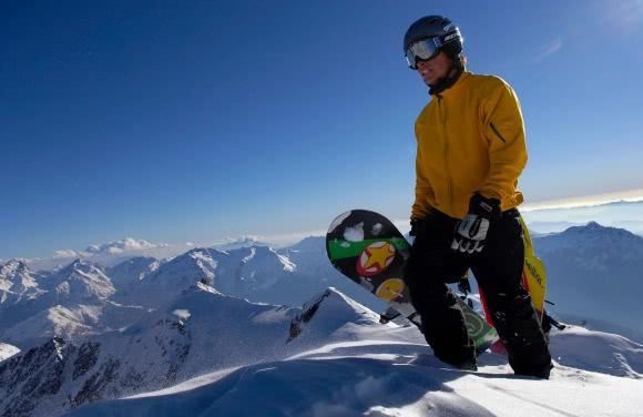 Snowboard à l'Alpe d'Huez, Grandes Rousses - Oisans (38)