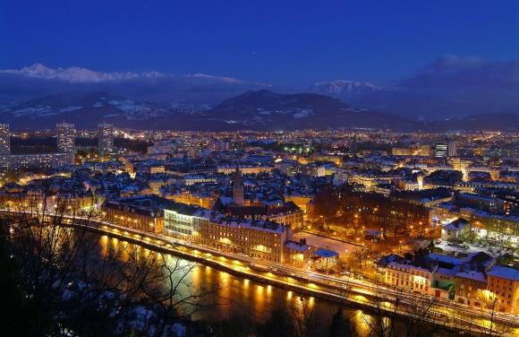 Grenoble (38) - Panorama depuis La Bastille