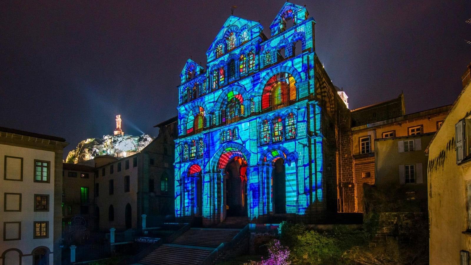Le Puy-en-Velay (43) - Spectacle Puy de Lumières, Cathédrale du Puy-en-Velay