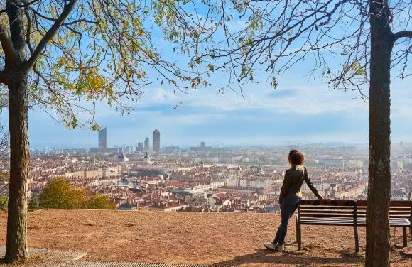 Vue sur Lyon depuis la colline de Fourvière