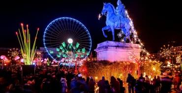 Lyon - Fête des lumières, place Bellecour