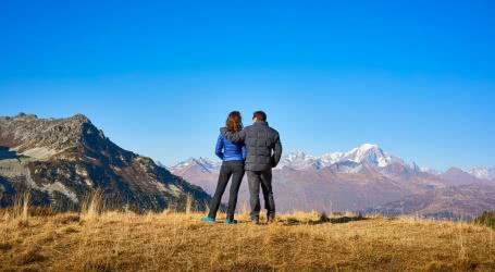 Vue sur le Mont Blanc depuis Les Arcs