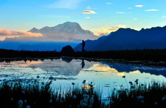 Le Mont-Blanc vu depuis le Mont des Acrays, Beaufortain (73)