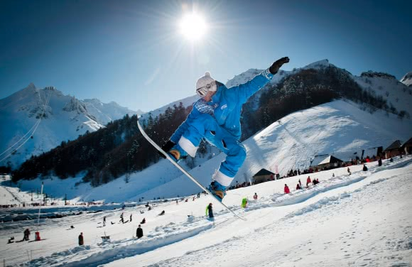Snowboard au Mont-Dore - massif du Sancy (63)