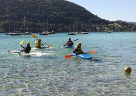 Entrainement kayak polo