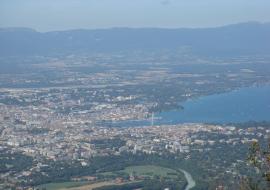 Lake Geneva from top of Saleve