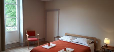 Chambre double accueil PMR -