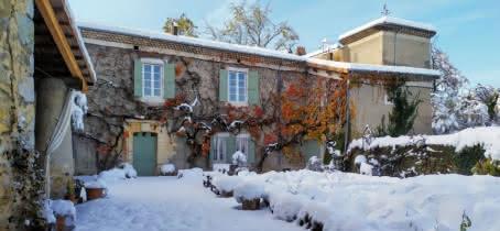 Neige au Château de Fontblachère - Nov 2019
