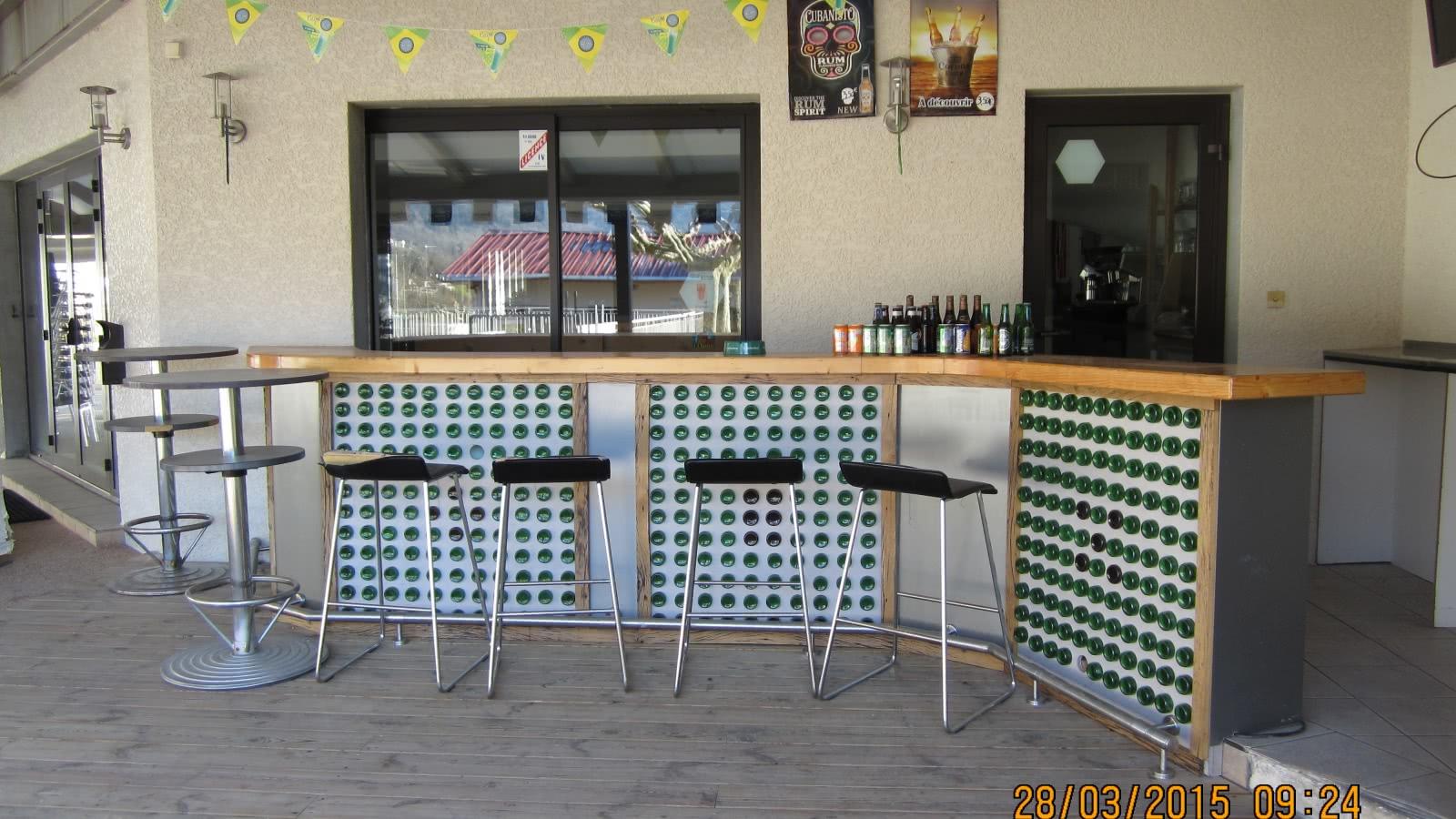 Bar restaurant avec vue sur les Bauges