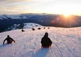 Sledge sunset descent