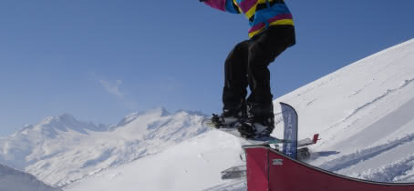 Free style snowpark - les Sybelles