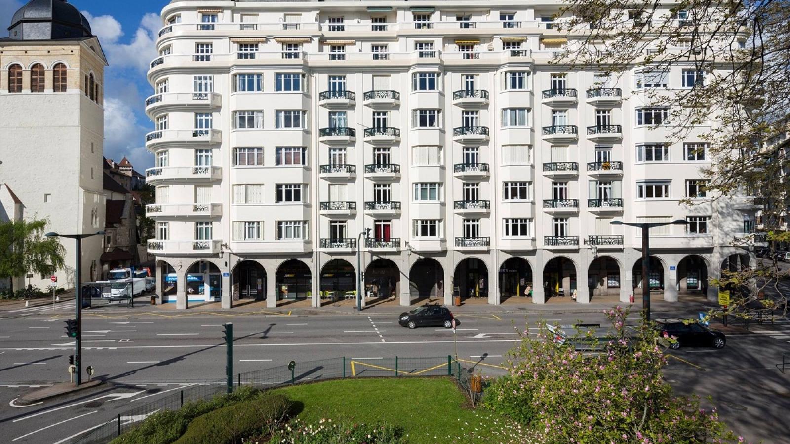 Annecy, immeuble Art Déco, quai Eustache Chappuis, architecte Georges Fournier