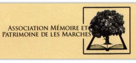 Logo mémoire et patrimoine de les marches