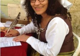 calligraphie avec Fati