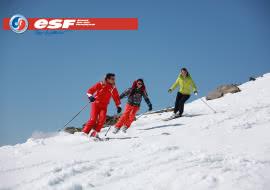 Cours de ski par l'ESF des Menuires