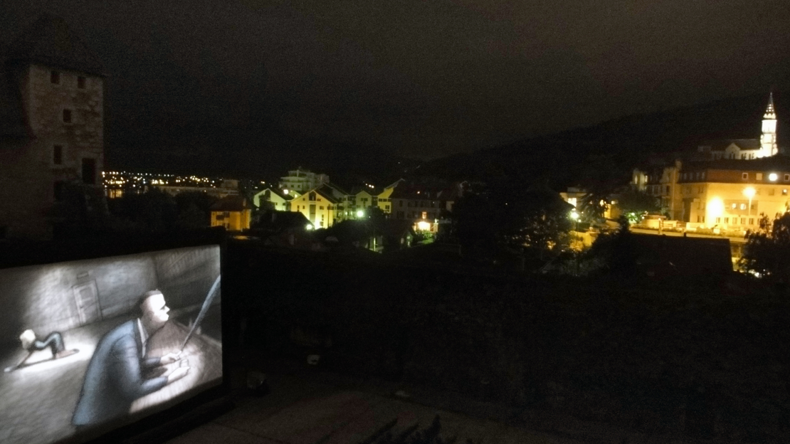 Ambiance événement : projection lors du Festival International du Film d'Animation