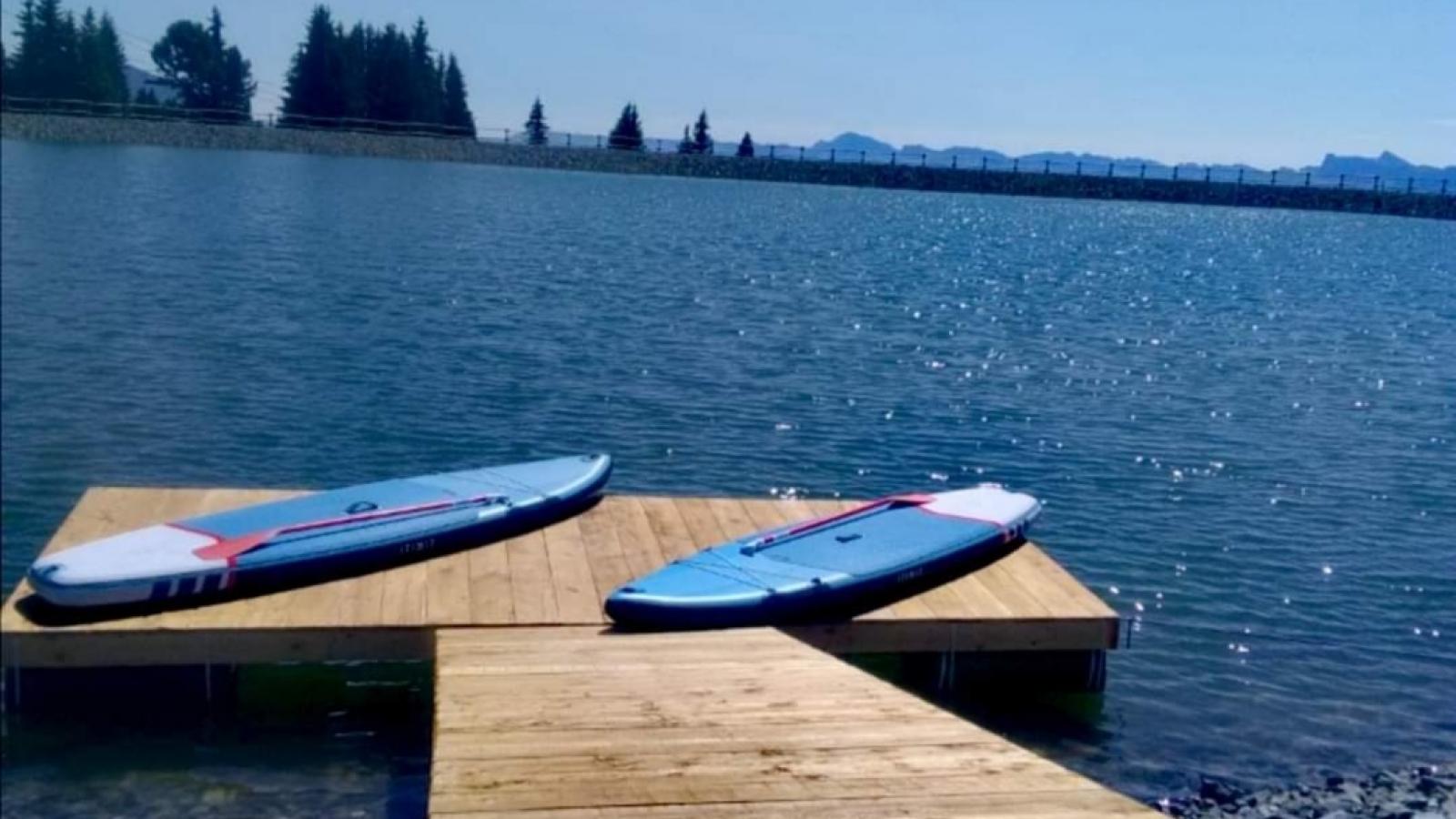 Photo du paddle au lac de Roche