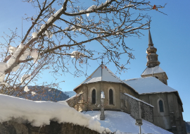 Abbaye d'Abondance sous la neige