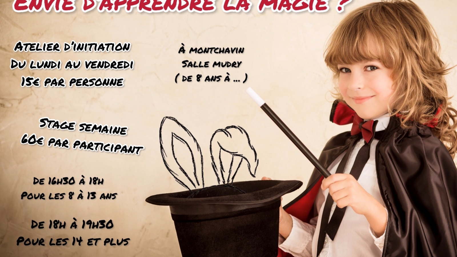 Atelier d'apprentissage de la magie