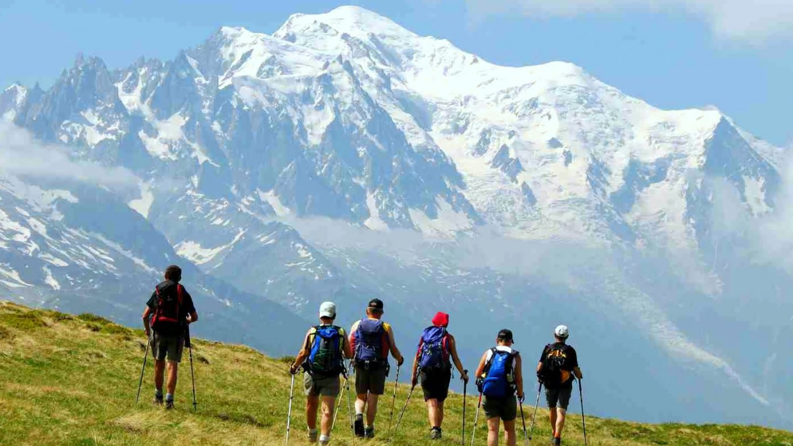 Randonnée avec Vue Mont Blanc