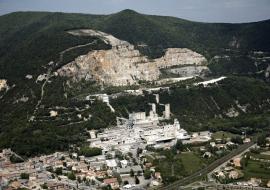 Vue du site industriel Lafarge Holcim
