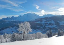 Vue Mont-Blanc depuis Combloux