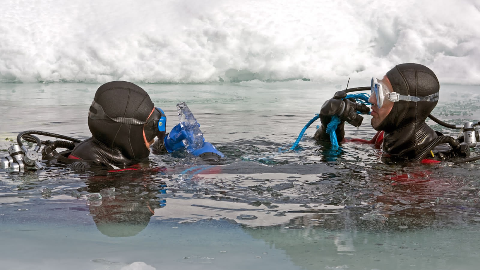 Plongée sous glace au lac de Montriond
