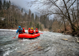 Frozen River Rafting